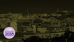 Stylised view of the Scottish Parliament
